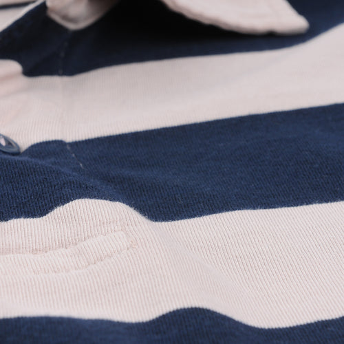 Rugby Stripe Polo in Tea