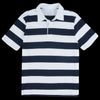 Save Khaki - Rugby Stripe Polo in White