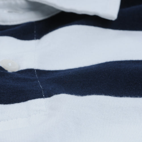 Rugby Stripe Polo in White