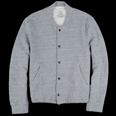 Save Khaki - French Terry Warm Up Bomber in Heather Grey