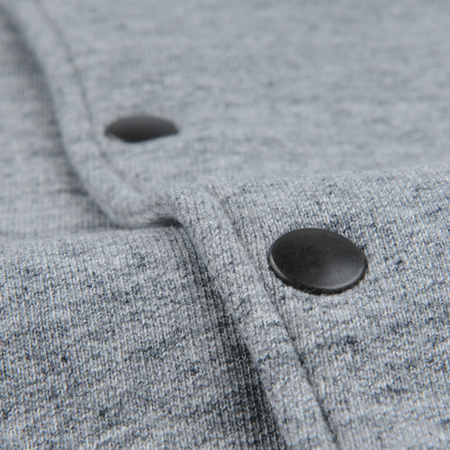 French Terry Warm Up Bomber in Heather Grey