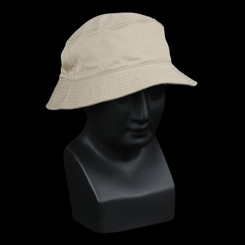 Bulldog Twill Bucket Cap in Khaki