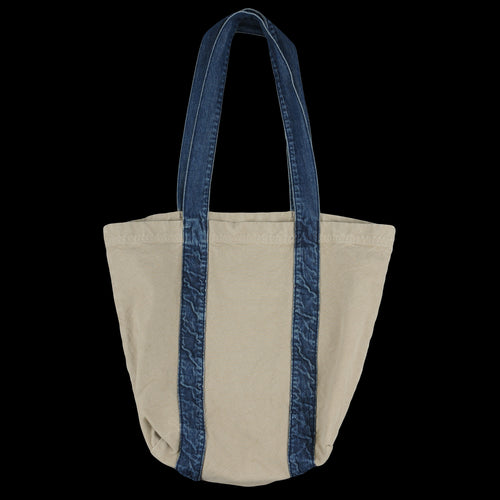 Canvas & Denim Tote in Khaki