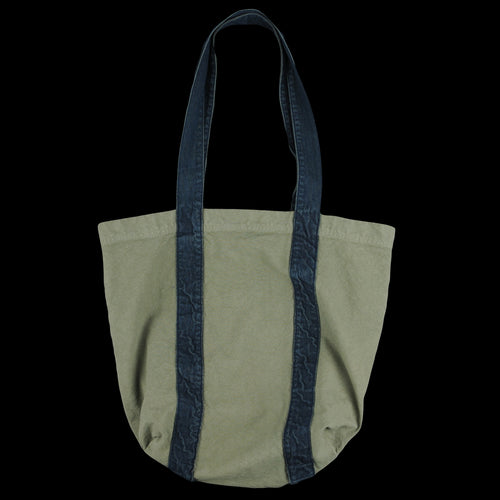 Canvas & Denim Tote in Olive Drab