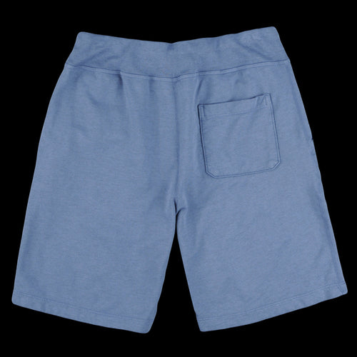 Heather Fleece Sweatshort in Heather Blue