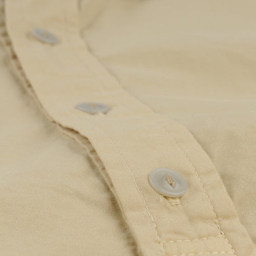 S/S Poplin Popover Shirt in Honey