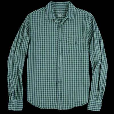Save Khaki - Gingham Work Shirt in Foliage
