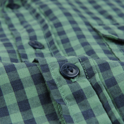 Gingham Work Shirt in Foliage