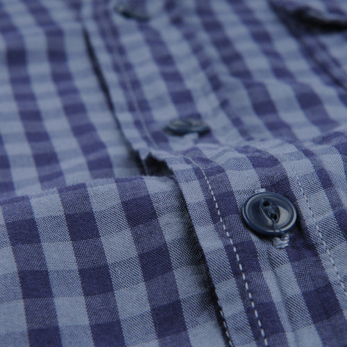 Gingham Work Shirt in Good Blue