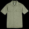 Save Khaki - S/S Twill Camp Shirt in Olive Drab
