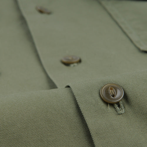 S/S Twill Camp Shirt in Olive Drab