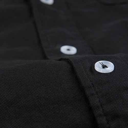 Oxford Button Down Collar Shirt in Black