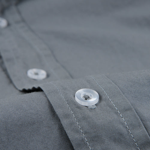 Poplin Easy Shirt in Metal