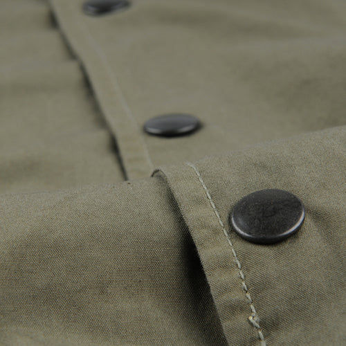 Poplin Warm Up Bomber in Olive Drab