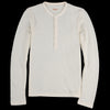 Kapital - Lamb Wool Jersey Henley in White