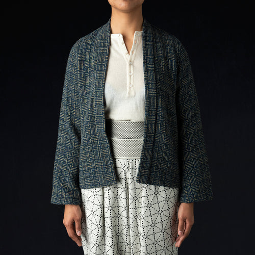 JO-MON Tweed SHA-KA Jacket in Blue