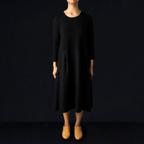 Lamb Wool Jersey AURORA Dress in Black