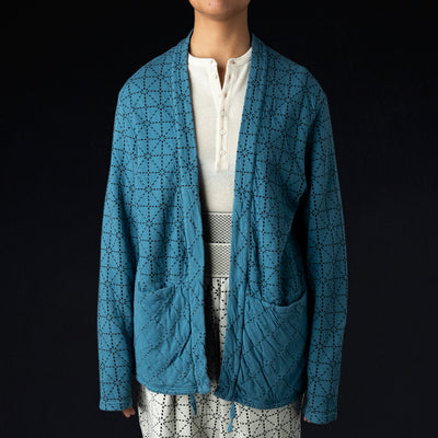 Kapital - DO-GI Sashiko Jersey KAKASHI Cardigan in Blue