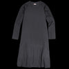 Kapital - 18.5/- Jersey x Single Gauze ISLA OLIVE Dress in Black