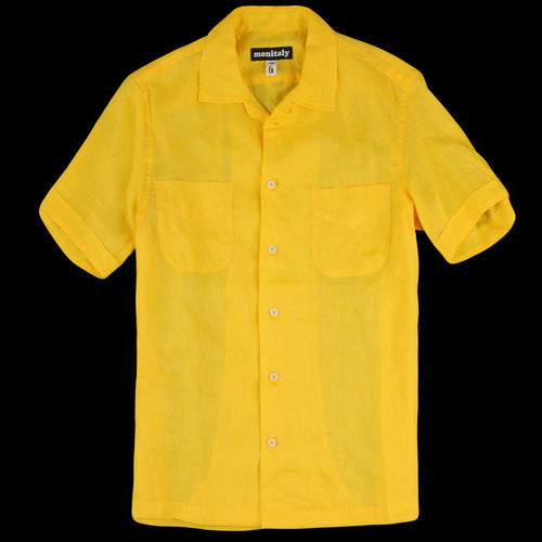 Vacation Shirt in Light Linen Yellow