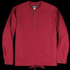 Monitaly - L/S Zip Neck Pullover in Vancloth Oxford Maroon