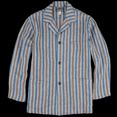 Monitaly - Italian Jail Jacket in Light Linen Stripe