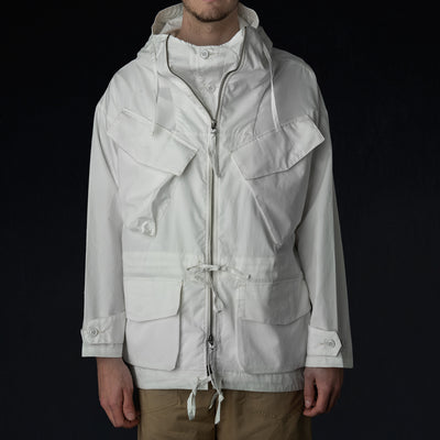 Monitaly - Expedition Half Coat in Vancloth Oxford White