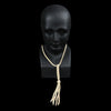 Yuketen - Braided Leather Necklace in Cream