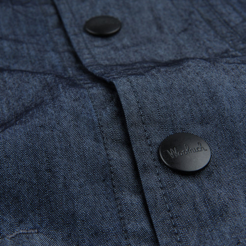 Cotton Nylon Canvas Denim Arctic Jacket in Dark Navy