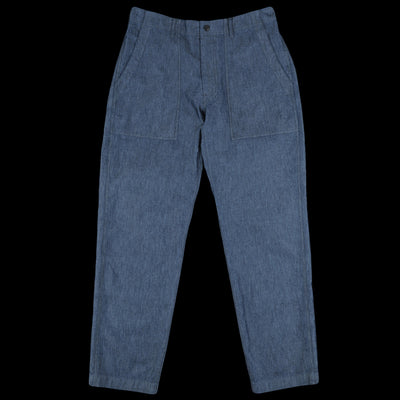 Woolrich - Cotton Nylon Canvas Denim Tapered Pant in Dark Navy