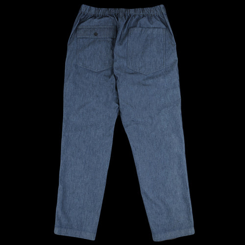 Cotton Nylon Canvas Denim Tapered Pant in Dark Navy