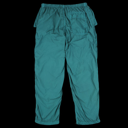 Overdyed Nylon Over Pant in Turquoise Blue