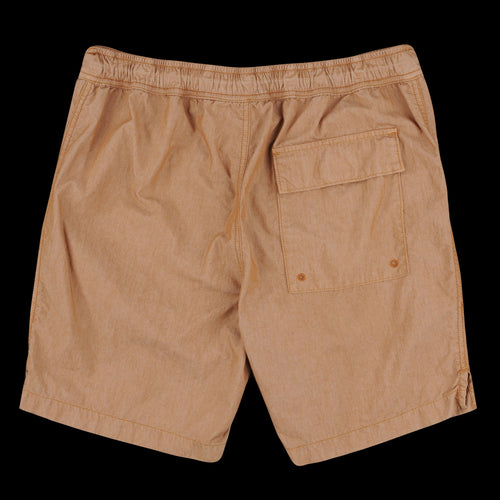 Cotton Nylon Beach Short in Squash