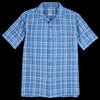 Save Khaki - Cotton Madras Vacation Shirt in Storm Blue