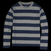 Save Khaki - L/S Rugby Stripe Crew Tee in Park