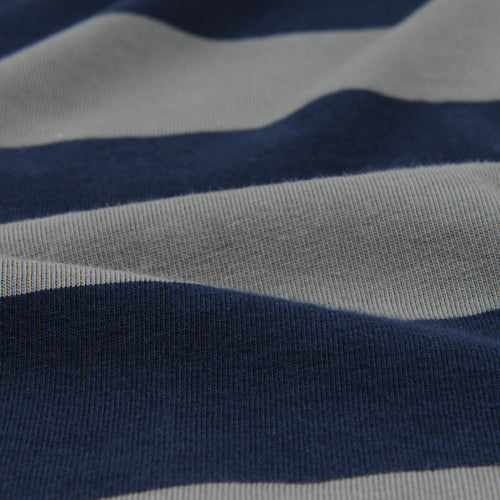 L/S Rugby Stripe Crew Tee in Park