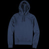 Save Khaki - Supima Fleece Pullover Hooded Sweatshirt in Navy