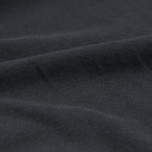 Organic Cotton Mock Neck Tee in Black