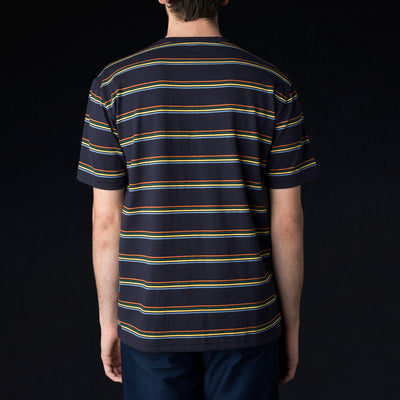 Arpenteur - Match Tee in Navy Orange Green Yellow & Blue