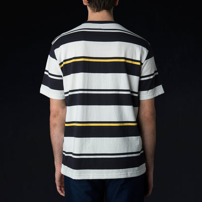Arpenteur - Match Tee in Navy White & Yellow