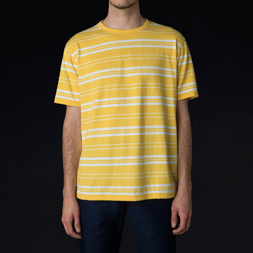 Match Tee in Yellow & White