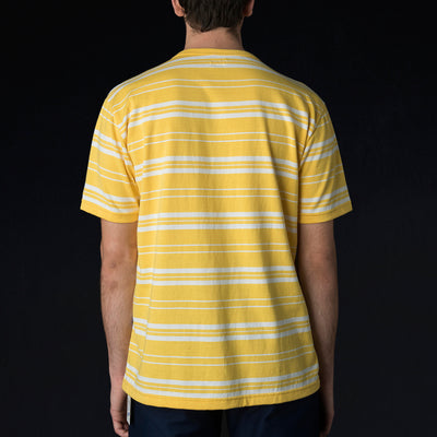 Arpenteur - Match Tee in Yellow & White