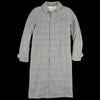 De Bonne Facture - Washed Linen Long Mac in Green Glen Check