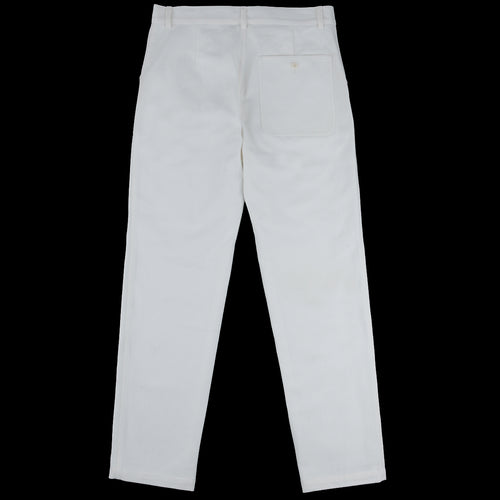Organic Twill Painter's Trouser in Off White