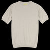 De Bonne Facture - Organic Yarn Knitted Jersey Tee in Undyed Natural