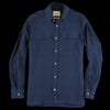De Bonne Facture - Brushed Linen Explorer Jacket in Navy