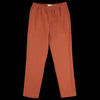De Bonne Facture - Brushed Linen Easy Trouser in Clay Red