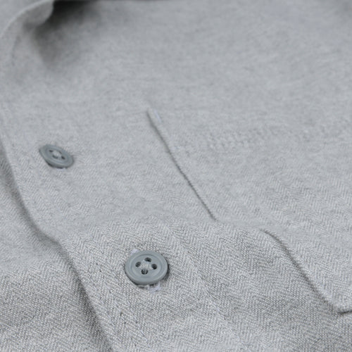 Herringbone Overshirt in YD Grey