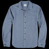 Home Work - Herringbone Overshirt in YD Navy