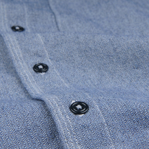 Herringbone Overshirt in YD Navy